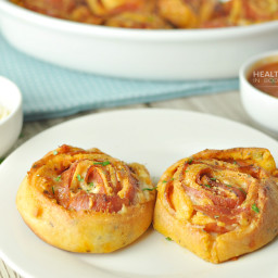Cheesy Pepperoni Pizza Pinwheels – Low Carb and Gluten Free