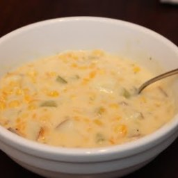 Cheesy Potato and Corn Chowder