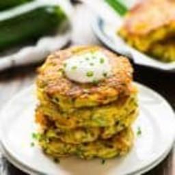 Cheesy Potato Fritters with Zucchini