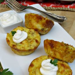 Cheesy Potato Muffins | Use Up Those Leftover Mashed Potatoes!