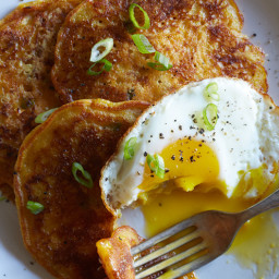 Cheesy Pumpkin and Green Onion Pancakes