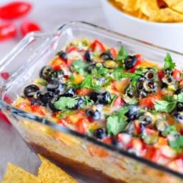 Cheesy Refried Black Bean Dip