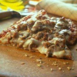 Cheesy Sausage and Mushroom Pizza