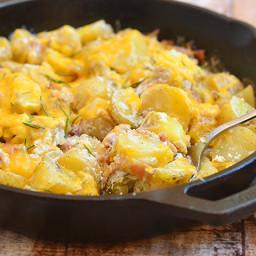 Cheesy Skillet Potatoes