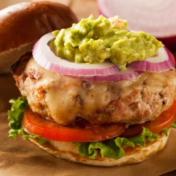 Cheesy Spicy Turkey Burger