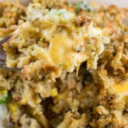 Cheesy Stuffing Broccoli Casserole