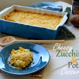 Cheesy Zucchini and Potato Casserole