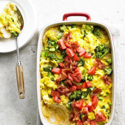 Cheesy Potato Bake with Eggs