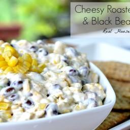 Cheesy Roasted Corn and Black Bean Dip