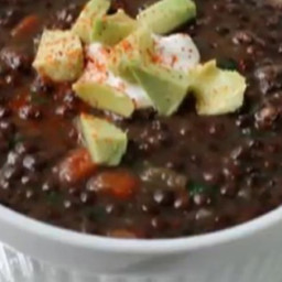 Chef John's Black Lentil Soup