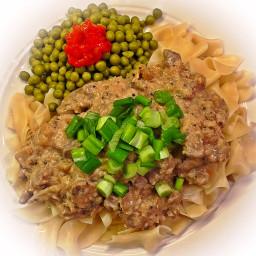 Chef Tastygrub's Healthier Stroganoff