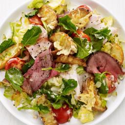Chef's Salad with Kale and Potato Croutons