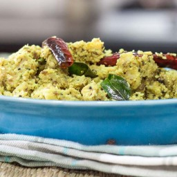 Chena Vazhakkai Erissery Recipe ( Yam Stir fry with Coconut and Spices)