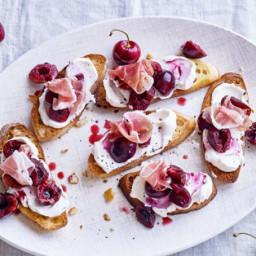Cherry bruschetta