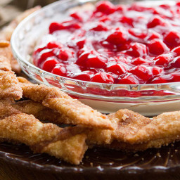 Cherry Cheesecake Dip with Cinnamon-Sugar Dipping Sticks