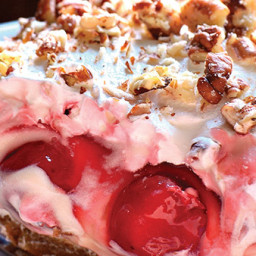 Cherry cheesecake lush dessert