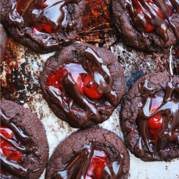 Cherry Chocolate Thumbprint Cookies (GF, DF, Egg, Soy, Peanut, Tree nut Fre