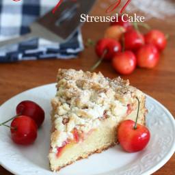Cherry (MARZIPAN) Almond Streusel Cake