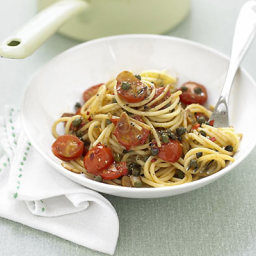 Cherry tomato and caper spaghetti