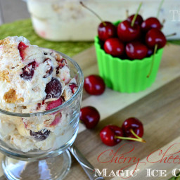 "Cherry Cheesecake ""Magic"" Ice Cream"