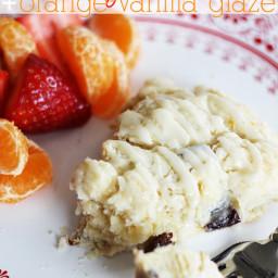 Cherry Scones with Orange-Vanilla Glaze