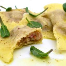 Chestnut Ravioli with Sage Butter Sauce