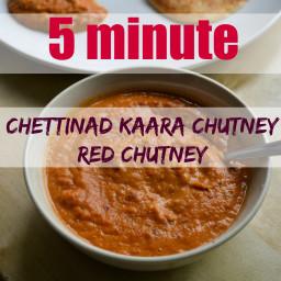 Chettinad Kaara Chutney - Spicy Red Chutney