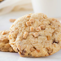 Chewy Butterfinger Toffee Cookies