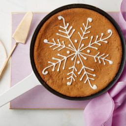 Chewy Ginger Molasses Skillet Cookie