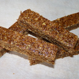 Chewy Oat, fruit and seed bars flapjacks