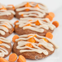 Chewy Pumpkin Cookies with Cream Cheese Icing