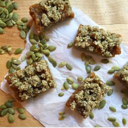 Chewy Pumpkin Seed Date Bars