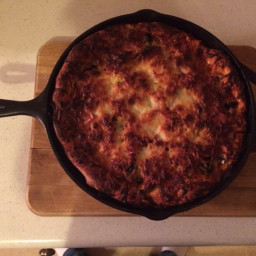 Chicago Style Deep Dish Iron Skillet Pizza
