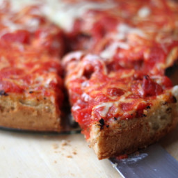 Chicago Style Deep Dish Sausage Pizza - Real Deep Dish