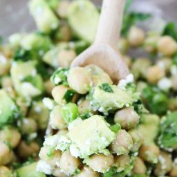 Chickpea, Avocado, and Feta Salad