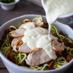 Chicken Alfredo Bake Recipe {Paleo, Clean Eating, Gluten-Free, Dairy-Free,
