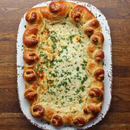 Chicken Alfredo Bread Boat Recipe by Tasty
