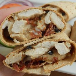 Chicken and bacon peppercorn alfredo wraps