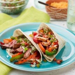 Chicken and Beef Fajitas