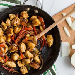Chicken and Bell Pepper Saute
