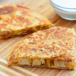 Chicken and Caramelized Onion Quesadilla