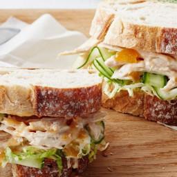 Chicken and cucumber sandwich with mango mayo