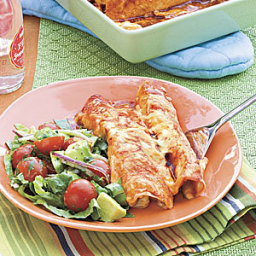 Chicken-and-Green Chile Enchiladas