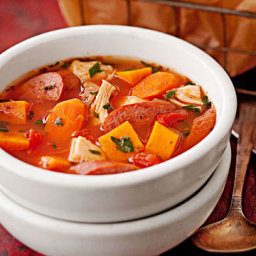 Chicken and Kielbasa Winter Stew