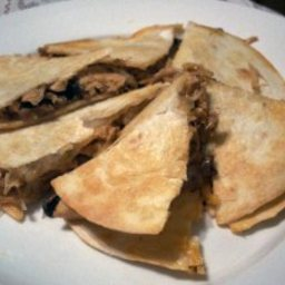 Chicken And Mushroom Quesadillas