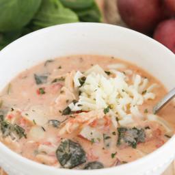 Chicken and Potato Florentine Soup