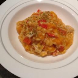 Chicken and pumpkin risotto