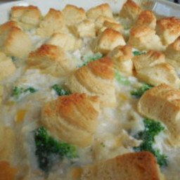 Chicken and rice crescent topped casserole