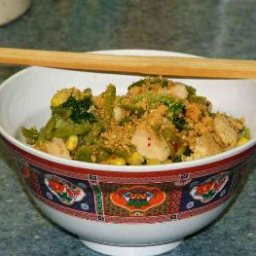 Chicken and Rice Stirfry