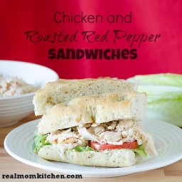 Chicken and Roasted Red Pepper Sandwiches